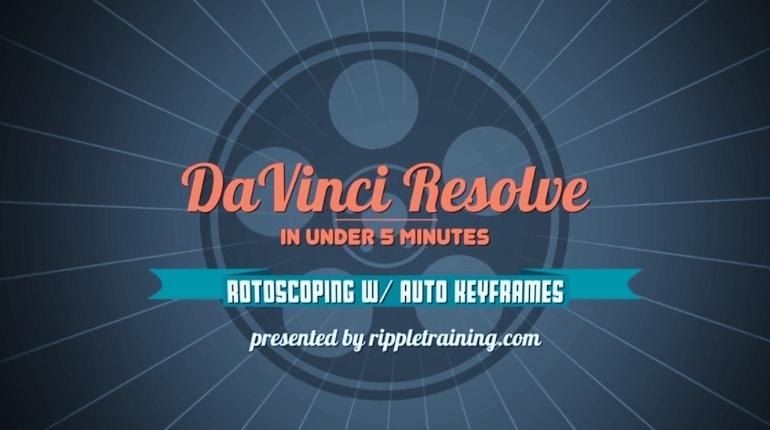 ROTOSCOPIE DAVINCI RESOLVE 12