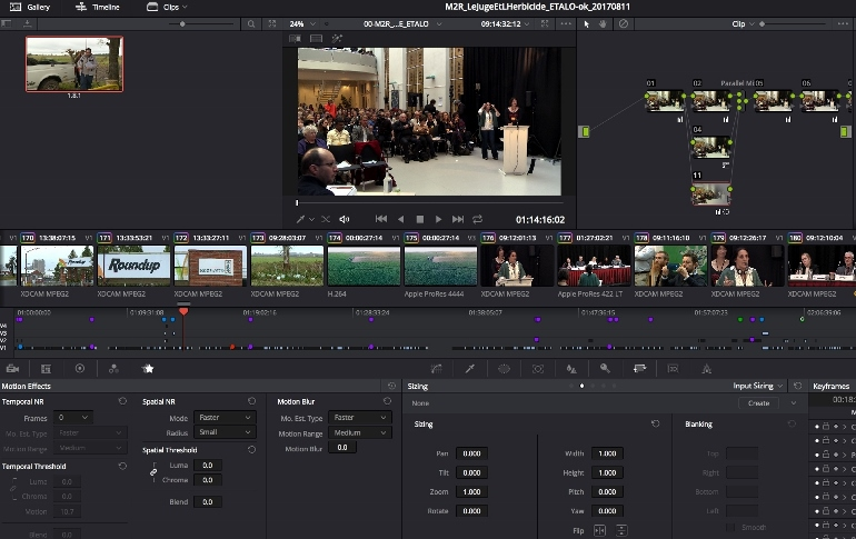 Documenatire LE ROUNDUP FACE A SES JUSGES DAVINCI RESOLVE