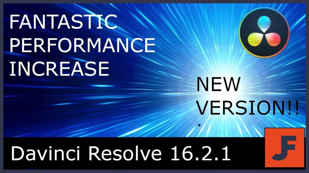 Performances accrues de DAVINCI RESOLVE 16.2.1